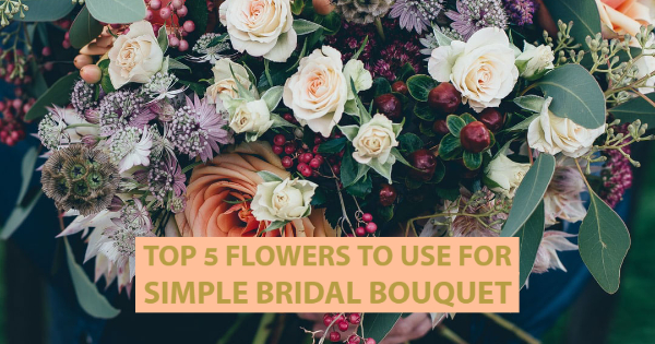 simple bridal bouquets.